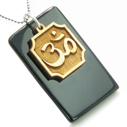 Tibetan Om Ohm Symbols Mantra Dog Tags Jewelry Amulets and Talismans