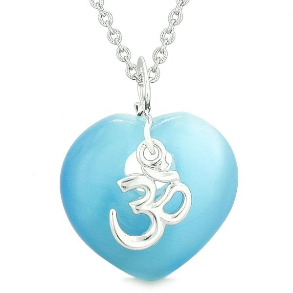 Tibetan Ancient Om Ohm Symbols Hearts Jewelry Amulets and Talismans