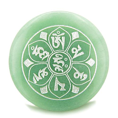 Tibetan Ancient Om Ohm Symbols Natural Gemstone Jewelry Amulets and Talismans