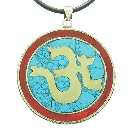 Tibetan Ancient Om Ohm Mantra Mainland Handicrafts Jewelry Amulets and Talismans