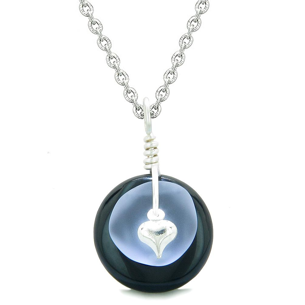 Onyx and Agate Gemstone Sea Glass Jewelry Amulets and Gifts