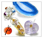 Brazilian Crystal Point and Natural Gemstone Amulets and Talismans Pendants