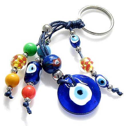 Protection From Evil Eye Keychains and Car Charm Amulets