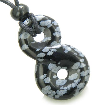 Protection From Evil Eye Snowflake Obsidian Gemstone Jewelry