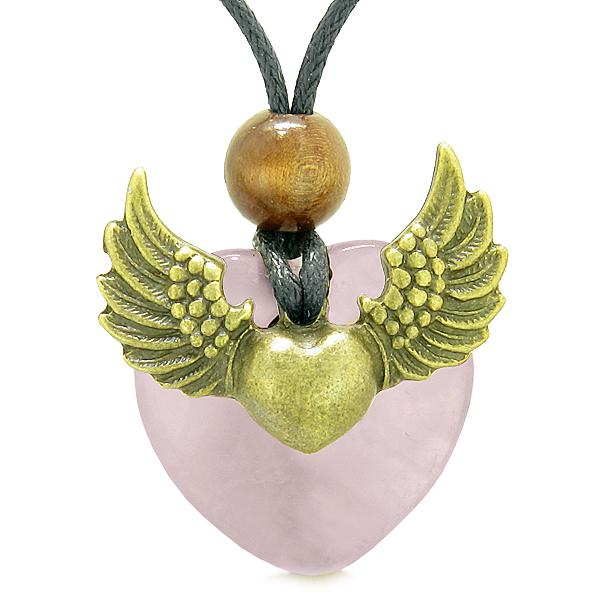 Rose Quartz Gemstone Crystal Angel Jewelry and Gifts