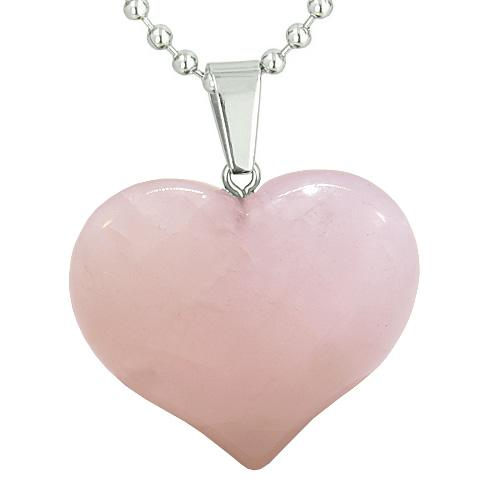 Rose Quartz Gemstone Crystal Heart Shaped Jewelry and Gifts