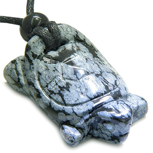 View All Snowflake Obsidian Gemstone Amulets and Talismans