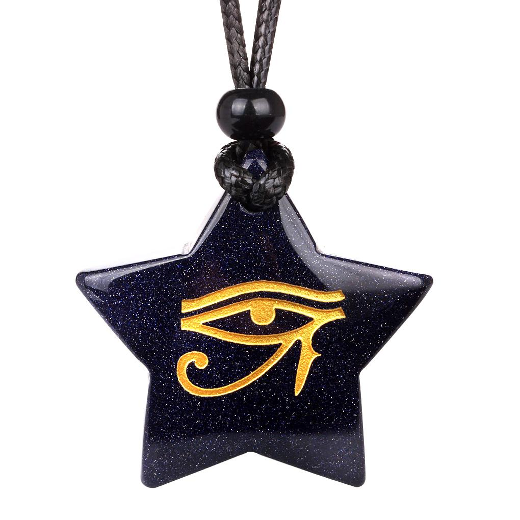 Lucky Engraved Stars and Pentacle Protection Magic Powers Jewelry Amulets and Talismans