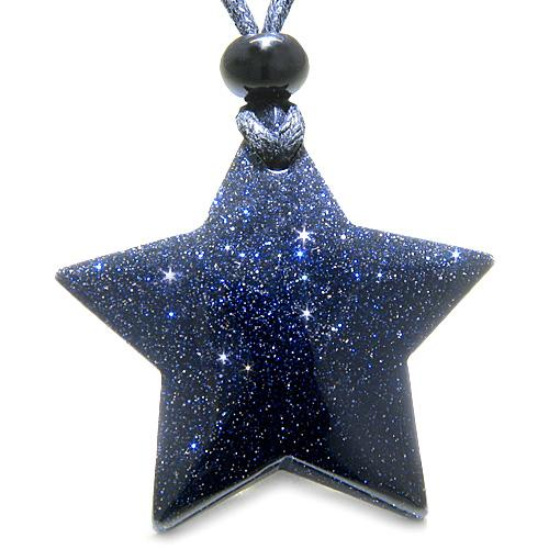Lucky Stars and Pentacles Goldstone Crystals Jewelry and Gifts