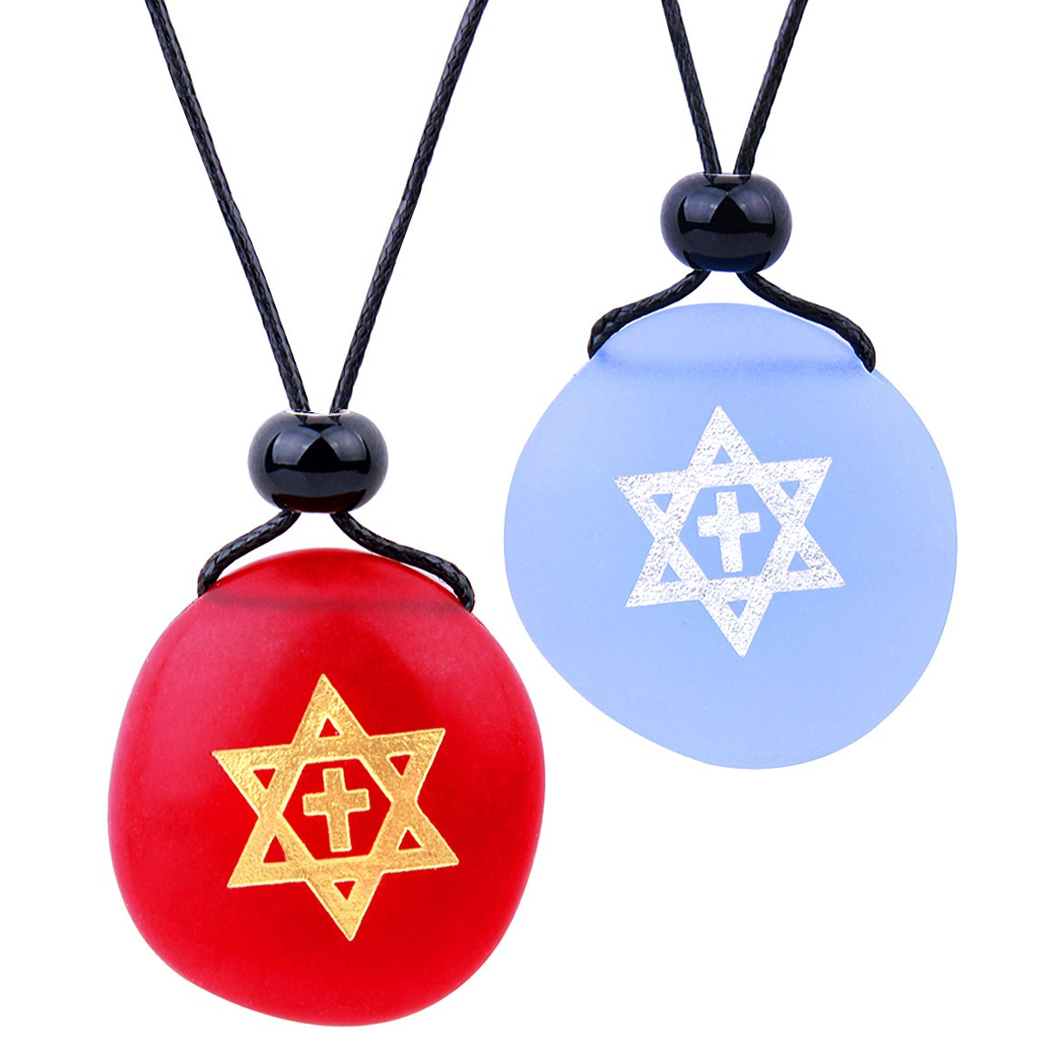 Lucky Stars and Pentacle Protection Magic Powers Sea Glass Jewelry Amulets and Gifts