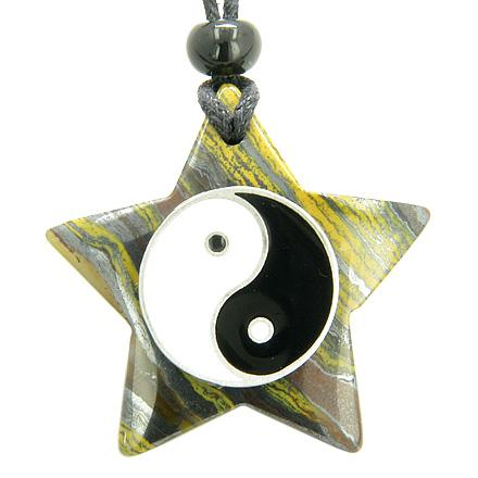 Lucky Totems Stars and Pentacles Tiger Eye Jewelry and Amulets