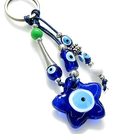 Lucky Totem Stars and Pentacle Symbols Magic Powers Keychain Good Luck Charms Amulets