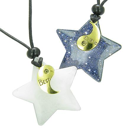 Lucky Totem Stars and Pentacle Symbols Magic Powers Love Couples and Best Friends Jewelry