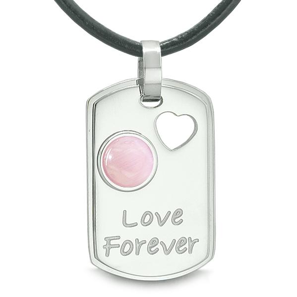 Inspirational Love Forever Protection Powers Dog Tag Jewelry Amulets and Talismans
