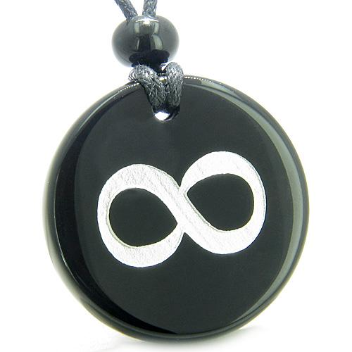Infinity Ancient Amulets in Onyx and Agate Gemstone