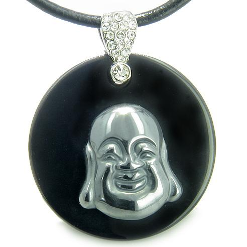 Ancient Tibetan Lucky Buddha Amulets in Hematite Gemstone