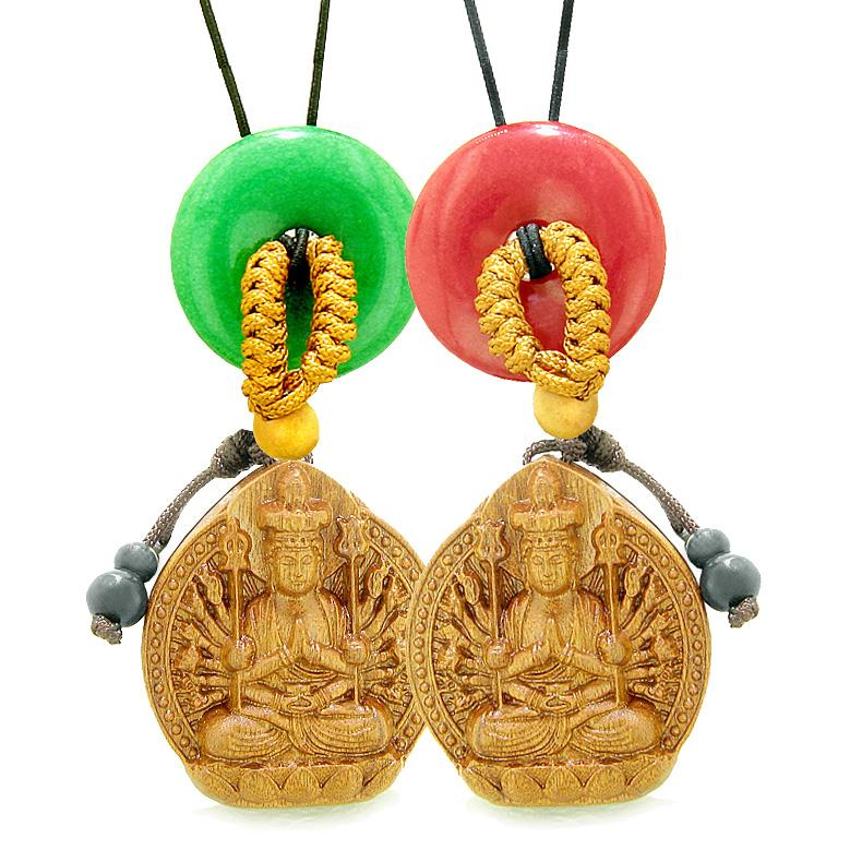 Ancient Lucky Kwan Yin Quan Tibetan Symbols Love Couples and Best Friends Jewelry Amulets and Talismans