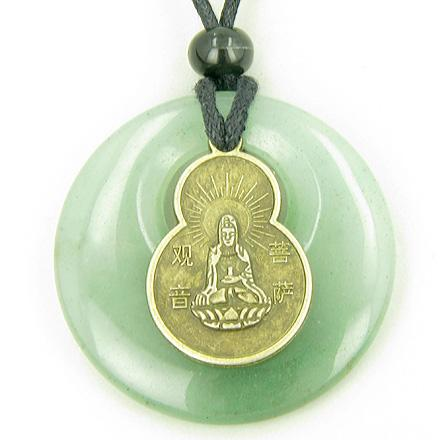 Ancient Tibetan Lucky Kwan Yin Quan Symbol Amulets and Talismans