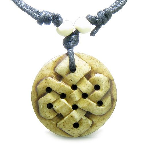 Ancient Tibetan Celtic Protection Knots Powers Buffalo Bone Amulets and Talismans