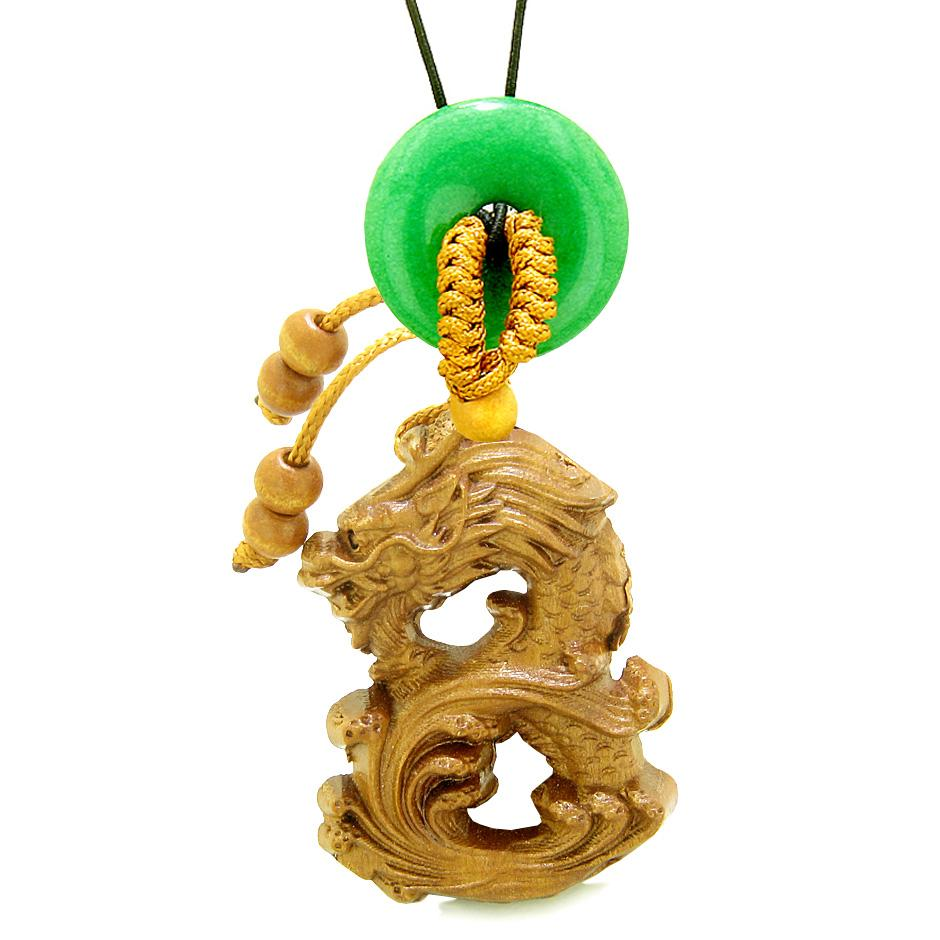 Ancient Tibetan Courage Dragon Good Luck Symbol Car Charms Amulets and Gifts