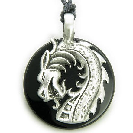 Ancient Tibetan Courage Dragon Good Luck Medallions Jewelry Amulets and Talismans