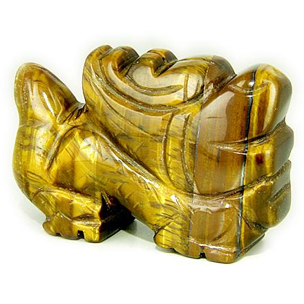 Ancient Tibetan Courage Dragon Natural Tiger Eye Gemstones Jewelry and Gifts