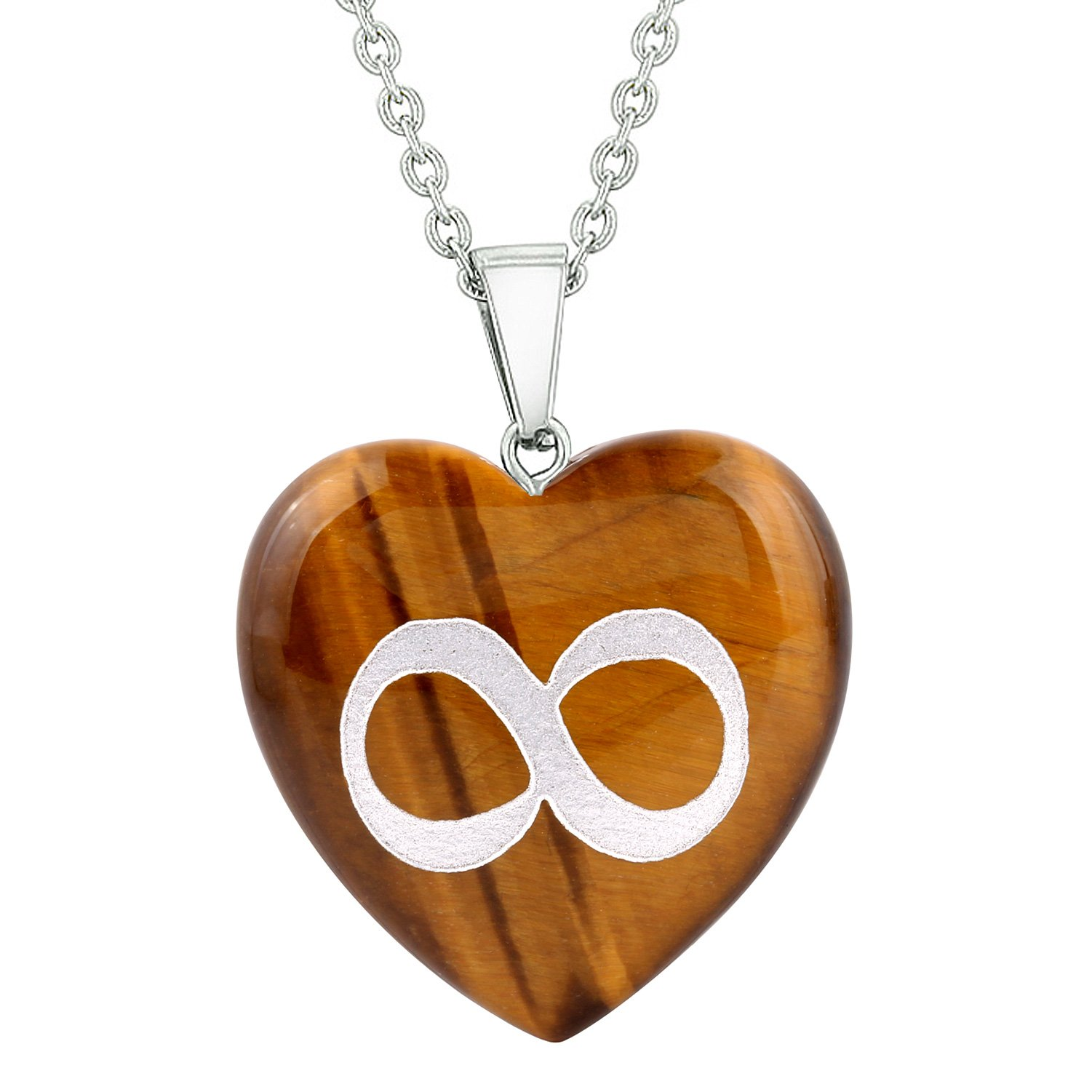 Tiger Eye Gemstone Protection Talisman Heart Shaped Jewelry and Gifts