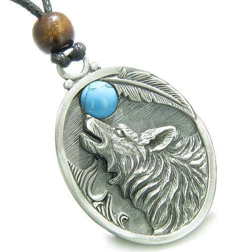Howling Wolf Spirit Jewelry Protection Necklaces Courage Powers Amulets and Talismans Gifts