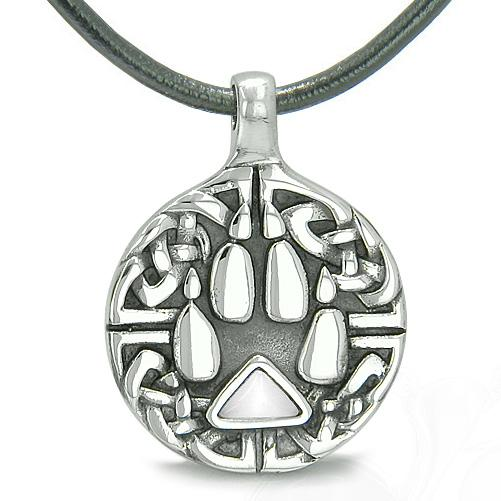 Wolf Paw Spirit Jewelry Protection Necklaces Courage Powers Amulets and Talismans Gifts