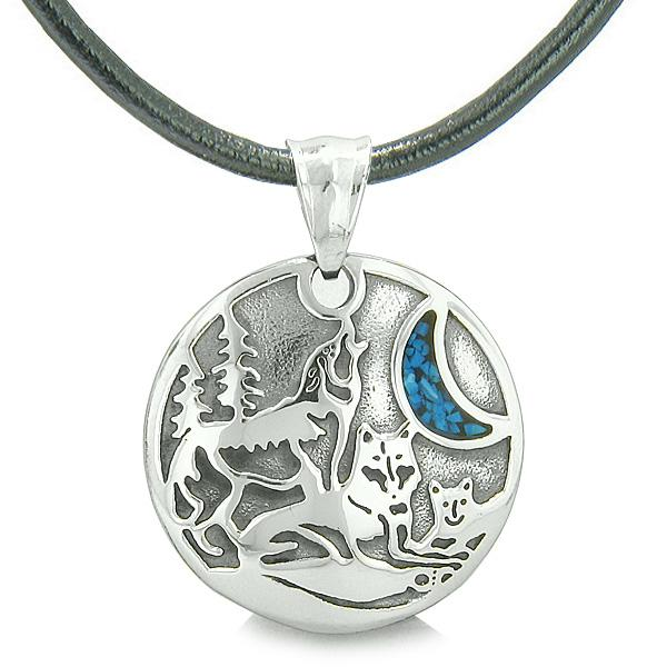 Wolf Family and Unity Spirit Jewelry Protection Necklaces Courage Powers Amulets and Talismans Gifts