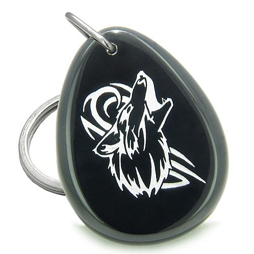 Wolf Keychains Good Luck Charms Spirit Courage Powers Amulets and Talismans Gifts
