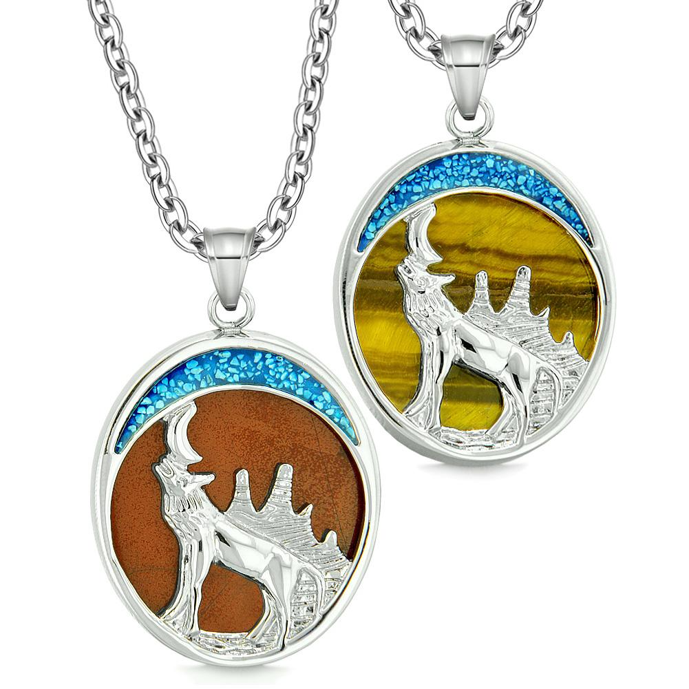 Wolf Love Couples and Best Friends Spirit Jewelry Protection Courage Powers Amulets and Talismans