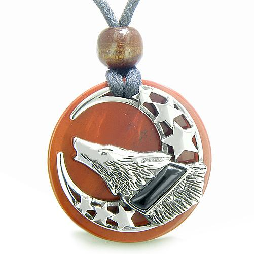 Wolf Medallions Spirit Jewelry Protection Necklaces Courage Powers Amulets and Talismans Gifts