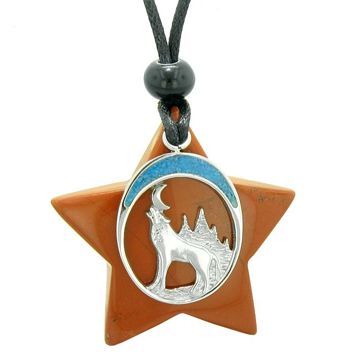 Wolf Star Spirit Jewelry Protection Necklaces Courage Powers Amulets and Talismans Gifts