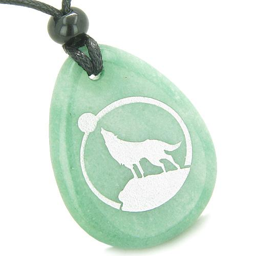 Wolf Wish Stones Spirit Jewelry Protection Necklaces Courage Wild Powers Amulets and Talismans Gifts