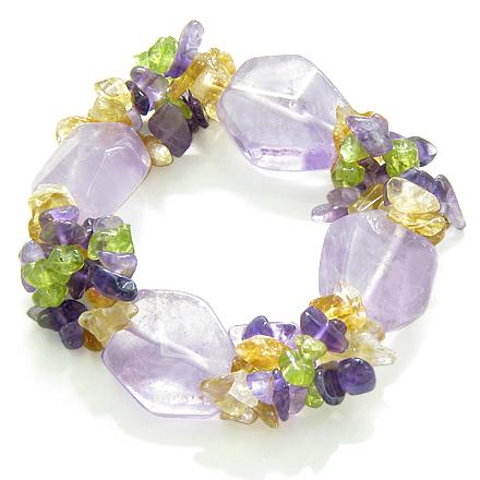 Travel Protection Talisman Amethyst and Purple Quartz Unique Magic Bracelets