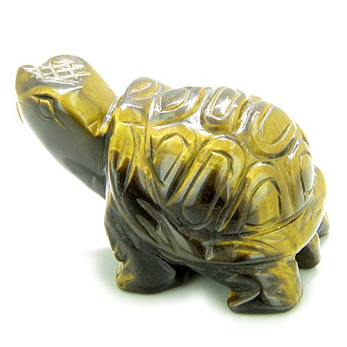 Lucky Turtle Good Luck Charms Natural Tiger Eye Gemstones Jewelry and Gifts