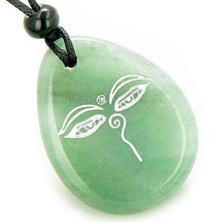 Wish Word Stones Lucky Laughing Buddha Necklaces Good Luck Powers Amulets and Talismans