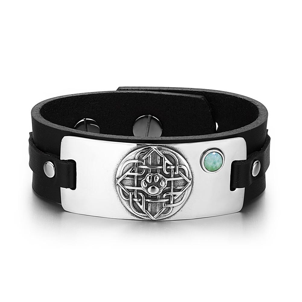 Wolf Paw Celtic and Wild Natural Energy Protection Amulets Leather Bracelets