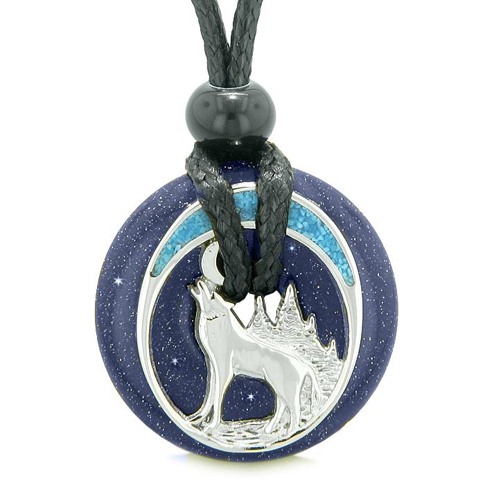 Wolf Goldstone Gemstone Jewelry
