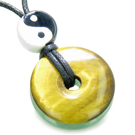 Ancient Tibetan Yin Yang Symbols Lucky Donut Amulet Jewelry and Gifts
