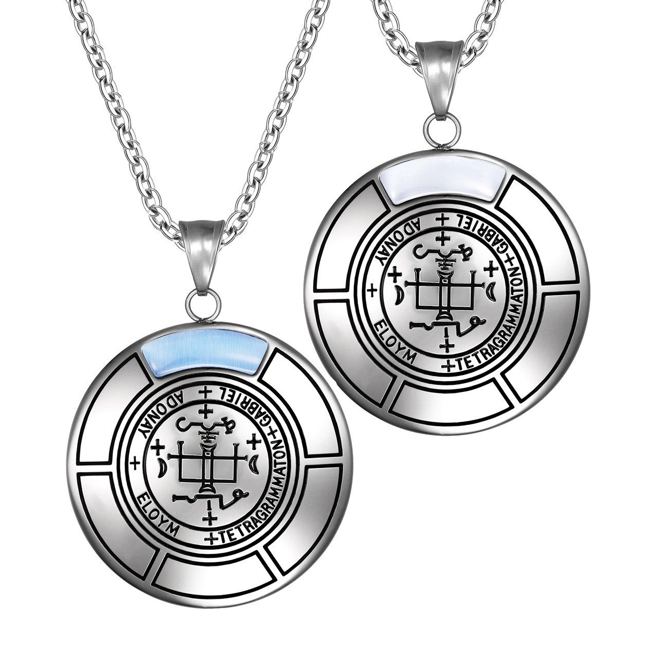 Sigil Of Archangel Gabriel Love Couples Amulet Set Necklaces