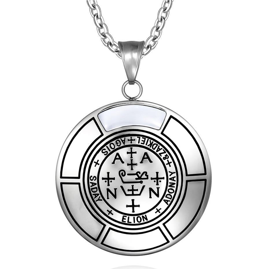Sigil of Archangel Zadkiel Magic Medallion Angel Amulet Pendant Necklace