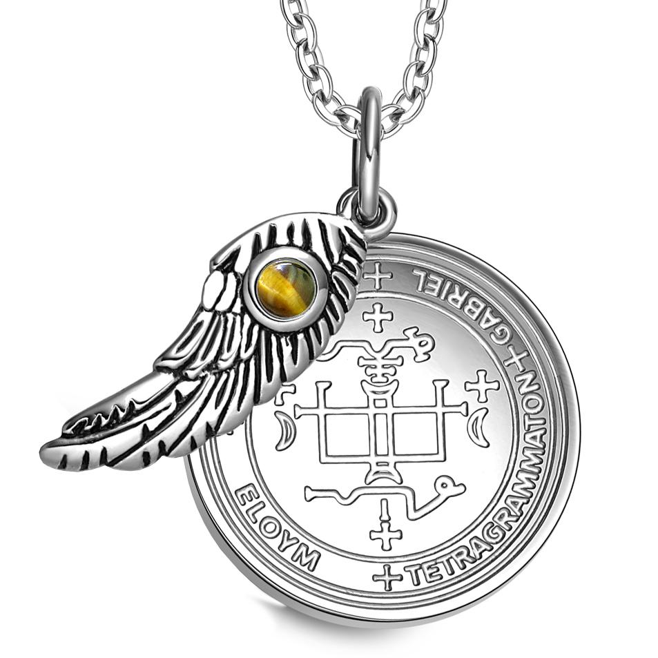 Archangel Gabriel Sigil Magic Wing Amulet