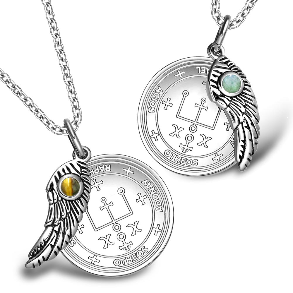 Love Couples Archangel Raphael Sigil Magic Wings Amulets Set