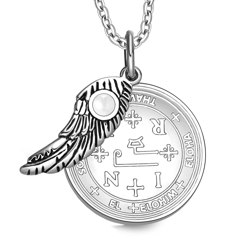 Archangel Thavael Sigil Magic Wing Amulet