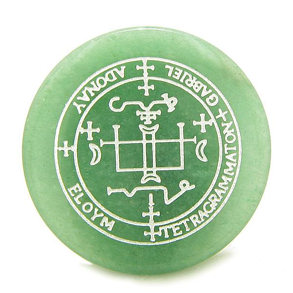 Sigil of the Archangel Gabriel Magical Amulet Green Aventurine Spiritual Powers Keepsake Individual