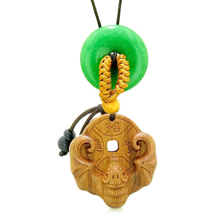 Magic Bat Fortune Car Charm or Home Decor Green Quartz Lucky Coin Donut Protection Powers Amulet 2