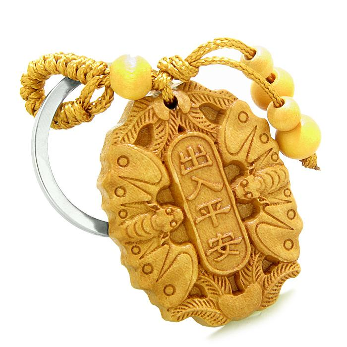 Amulet Double Lucky Bat Magic and Protection Powers Charms Feng Shui Symbols Keychain Blessing