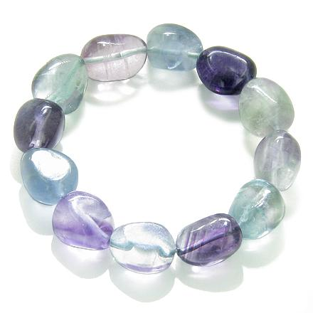 Amulet Healing Fluorite Tumbled Crystals Natural Powers Gemstone Bracelet